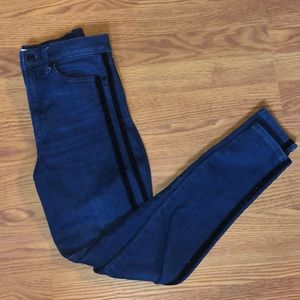 GAP skinny jeans with striped sides
